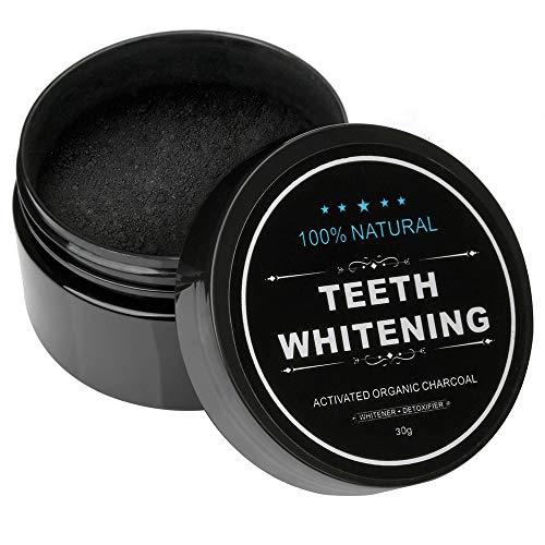 ZUEN 30g * 3 scatole di dentifricio in Polvere Dente sbiancamento in Polvere Naturale Carbone Attivo Nero Guscio di Noce di Cocco Cura Orale bambù Carbone Domestico Dente in Polvere