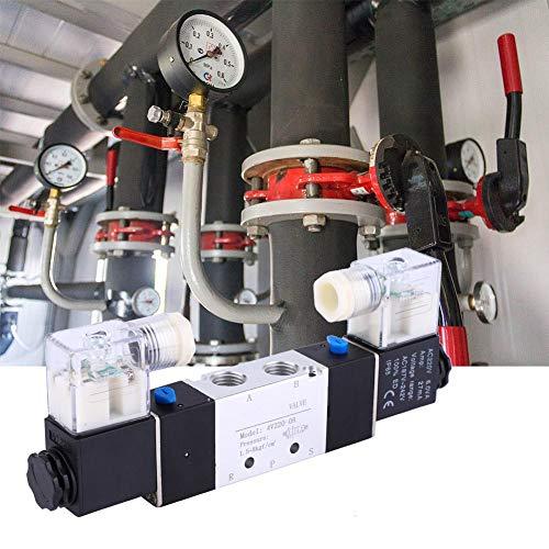 Salida de 1/4 pulgadas 1/8 pulgadas de control de flujo de regulación de precisión válvula neumática válvula electromagnética regulación del aire para sistemas de aire (AC220V)