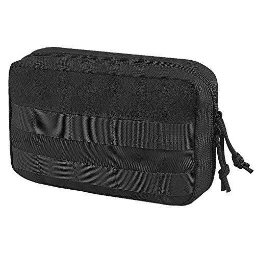 AMYIPO Tactical Molle Admin Pouch Equipment Multi-Purpose EDC Utility Tools Bag Utility Pouches Molle Attachment Military Modular Attachment (Black)