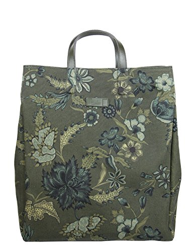 Gucci Unisex Green Canvas Floral Fabric Top Handle Tote Bag 341739 3354