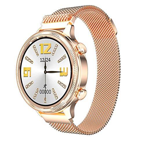 ZYY Reloj Inteligente De Las Señoras, Ritmo Cardíaco Impermeable Y Monitoreo De La Presión Arterial RECORDATORIO DE Llamada Bluetooth Pulsera De Aptitud Smartwatch para Android iOS,A