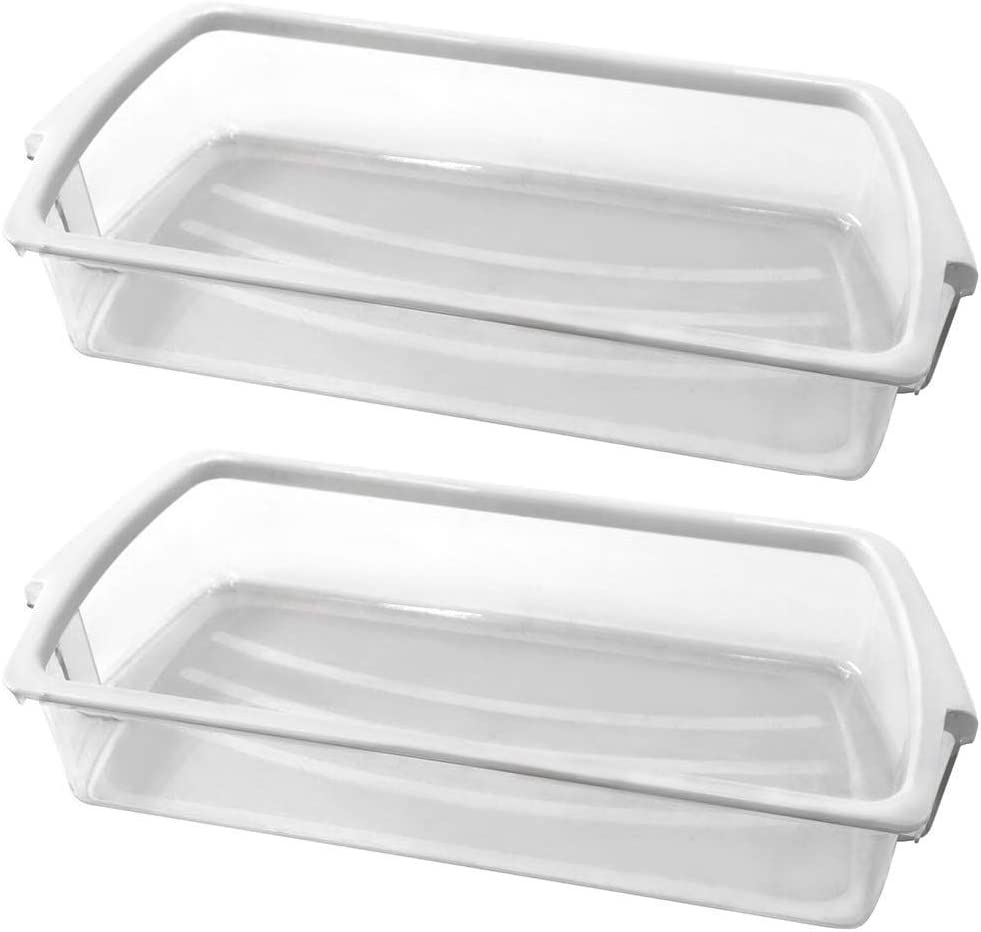 2 PACK W10321304 refrigerator Door Shelf Band Popular brand in Weekly update the world on with Bin White