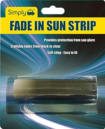 Simply FAD02 Sonnenschutz für die Windschutzscheibe, bietet Schutz vor Blendung, selbstklebend, leicht anzubringen und zu entfernen, schwarz/blau