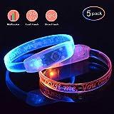 Pumila Blinkendes LED Armband Pack 5 LED-Armbänder leuchten im Dunkeln für das Sport Festival...