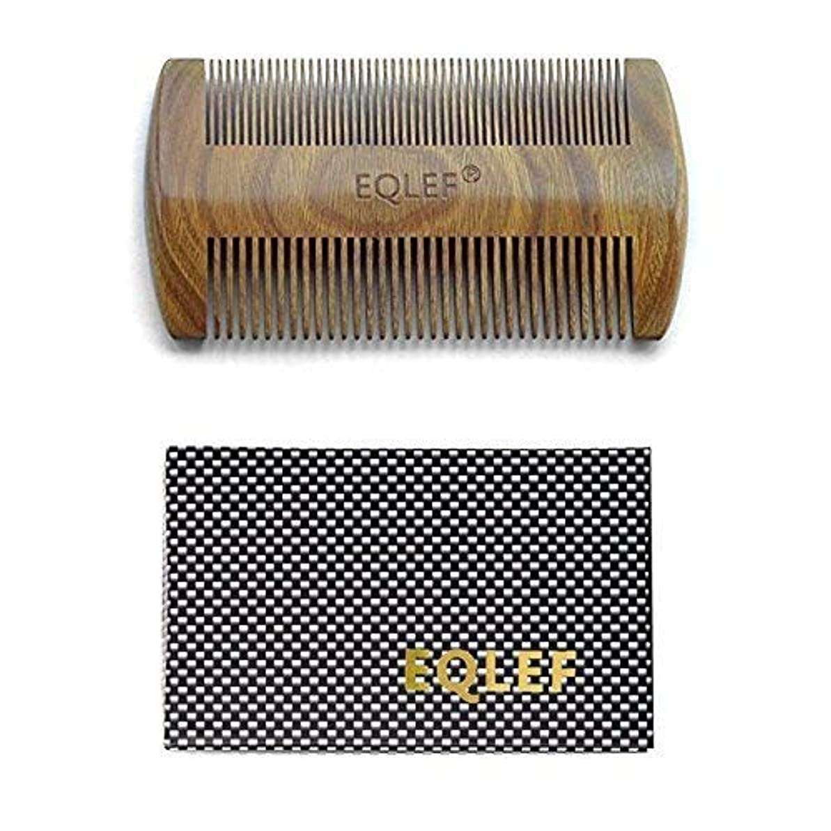 ファンシー関係バッジEQLEF? Green sandalwood no static handmade comb,Pocket comb (beard) [並行輸入品]