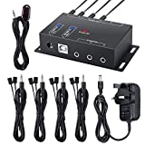 Neoteck IR Repeater 1 Receiver 8 Emitters Hidden IR Repeater System Infrared Remote Control Extender Kit for DVD IPTV Karaoke Hotel Set-Top Box Hidden Installation Bath Center and Home