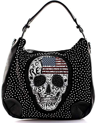 Star-Trends dames handtas doodskop Skull Bone Bowling Bag Gothic punk damestas schoudertas door