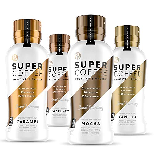 Kitu Super Coffee, Keto Protein Coffee (0g Added Sugar, 10g Protein, 70 Calories) [Variety Pack] 12 Fl Oz, 12 Pack | Iced Smart Coffee Drinks
