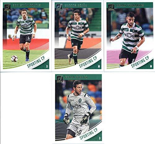 2019 Donruss Soccer Sporting CP Veteran Team Set of 4 Cards: Bruno Fernandes(#59), Marcos Acuna(#60), Sebastian Coates(#61), Renan Ribeiro(#62)