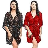 Pratiharye Diwali Combo Pack of 2 Baby Doll Nightwear Robe/Kimono/Negligee/Sleep Dress/Lingerie|Hot & Sexy for Honeymoon/First Night/Anniversary |for Women/Girls.