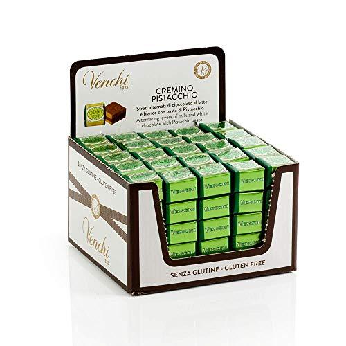 Confezione Cremino Pistacchio, 1325 Gr - Cioccolato con Pasta di Pistacchio- Pack di 125 Pezzi- Senza Glutine