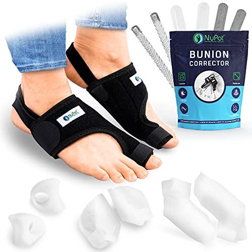 NYPOT Bunion Corrector for Women and Men - Orthopedic Bunion Splint, Hammer Toe Straightener for Women, Turf Toe Brace, Hallux Valgus Corrector , Big Toe Separators, Night Day Support