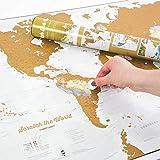 Zoom IMG-1 mappa del mondo da grattare