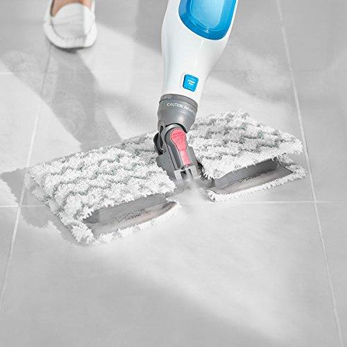 Shark [S6001UK] Klik n' Flip Corded Pocket Mop, White/Blue, Plastic