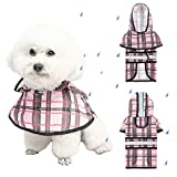 """Size S: Neck girth 12.1"""", Chest girth 17.4"""", Back length 12.6"""". Please measure your dog's size refer to our size chart then choose the size your pet needs to fit the best. Fashion: The classic plaid design looks very cool, makes your pet become attra..."""