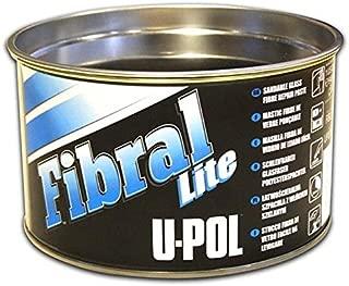 U-Pol Products 0766 FIBRAL LITE Lightweight Sandable Glass Fiber Repair Paste Filler - 1 Quart