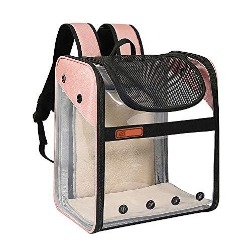 Transportín Mochila Perros Gatos Mascotas - Bolsa Transporte Extensible Plegable Transpirable y...