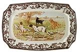 Spode Woodland Hunting Dogs Rectangular Platter