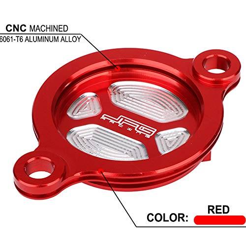 Tapa de Filtro de Aceite para Motocicleta CRF450R CRF450 R CRF 450R CRF 450 R CRF 450 RX CRF450 RX CRF 450RX 2017-2018 CRF450RX 2017-2018, Color Rojo