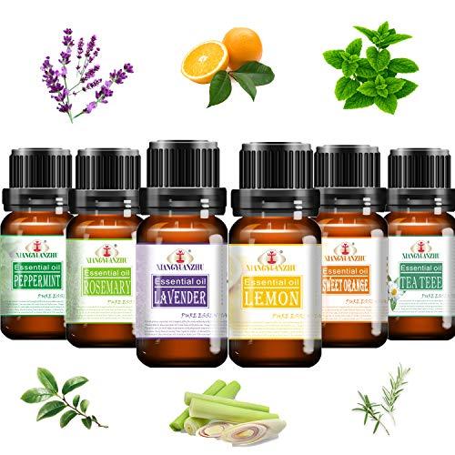 Alenyk Aceites Esenciales para Humidificador Naturales|Set de Aceites Esenciales Puros|Esencias para Aromaterapia para Spas, Baños Relajantes y Masajes