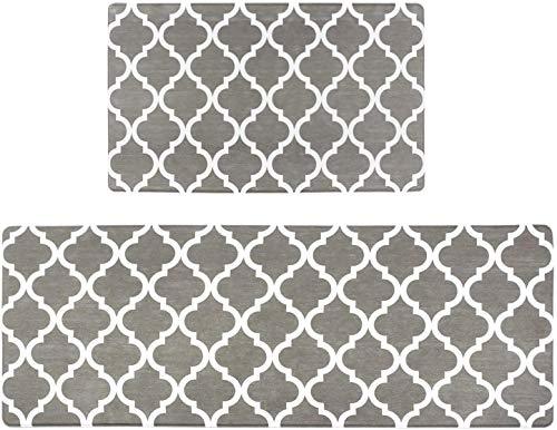 Homcomodar Küchenmatten 2 STÜCKE Teppiche Waschbar Küchenmatten Läufer Set Küchenläufer Komfort Küchen Fußmatten (44x70+44x120cm)