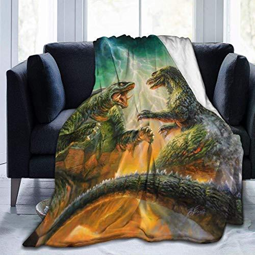 Eileen Powell Super Cosy Monstruos Famosos Godzilla Vs ra Old Movie Fanart Moving Throw, Large 80 * 60in