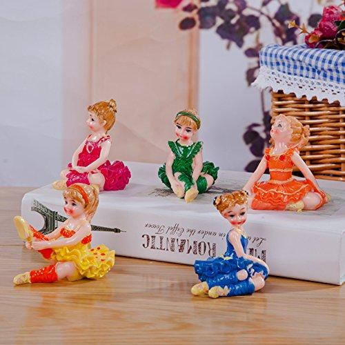Cartoon Ballerina decoratieve hars geschenken Huis Meubelen keramische desktop decoratie