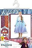Disney, Elsa Travel Frozen2 Classic - Disfraz de Elsa Travel, Multicolor, S (3-4 años)