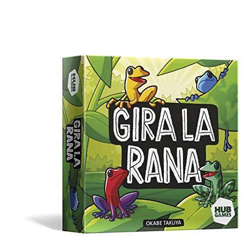 Juego de Mesa - Gira la Rana - ¡Ayuda a Tus Coloridas y llamativas Ranas a apoderarse de una pequeña Parte de la Selva!