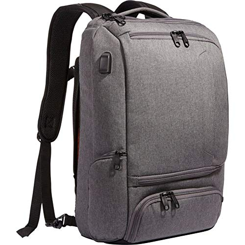 eBags Professional Slim Laptop Backpack with USB Port (Heathered Graphite w/USB)