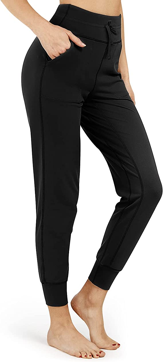 Inno Women's Buttery Soft Yoga Joggers High Waist Fitted Pants with Pockets Lounge Athletic Workout