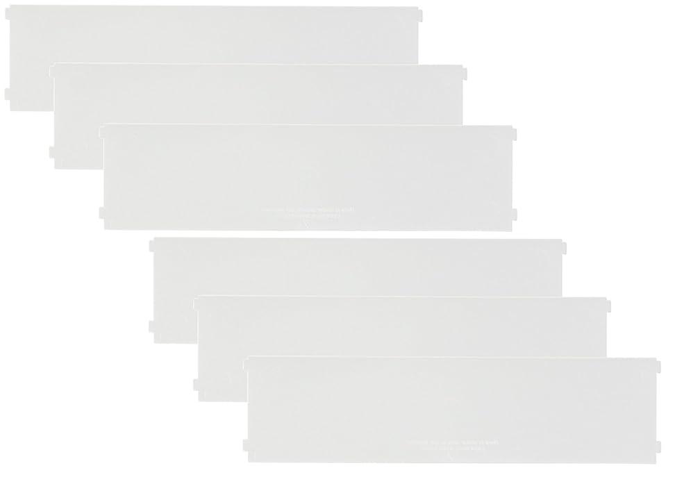 許可マーク病んでいるlike-it 収納ケース ブリックス 仕切り板 ワイドM用 2枚組x3セット クリア 幅20.7x高5.3x厚0.2cm 9104x3P