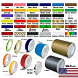 A&Z Roll Vinyl Pinstriping Pin Stripe DIY Self Adhesive Line Car Tape Decal Stickers Fluorescent Yellow 1 inch