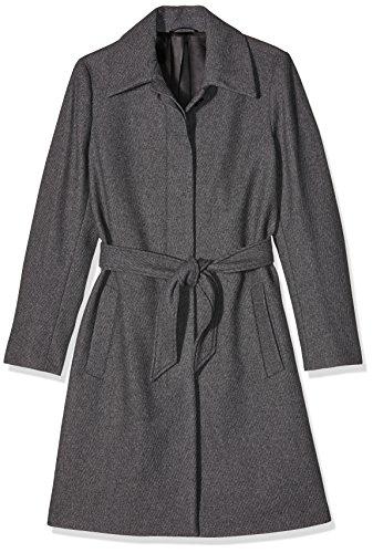 Filippa K Damen Mantel, Iza Wool Belt Coat , Gr. 38 (Herstellergröße: Medium), Grau (Grey Mel)
