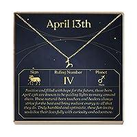 Dear Ava 4月13日 ネックレス 誕生日 お祝い 彼女へのギフトに (牡羊座)