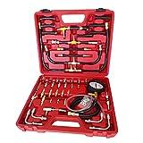 SHIOUCY Tester di Pressione Pompa Iniezione Carburante 0-140psi Φ8.9cm Kit Tester per Con...