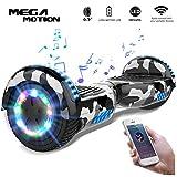 "Mega Motion Self Balance Scooter Elettrico E1-6.5"" Elettrico Segway - Bluetooth (Blue Army)"