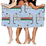 Patrón sin Costuras de Dos lémures y Word Madagascar Toallas de baño Grandes Toalla de Playa Toalla de baño Absorbente de Viaje Suave 130 x 80 cm