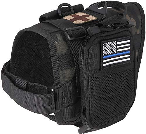 M2S Tactical Dog Harness-Vest, midium Black, Traning Dog, molle System,