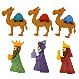 Botones decorativos Reyes Magos. Dress It Up 8048 Buttons We Three Kings.