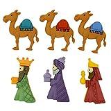 Botones decorativos Reyes Magos. Dress It Up 8048 Buttons We Three Kings.