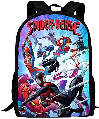 Mochila escolar de Spider-Man, para niños, con dibujos animados, muy ligera, resistente al agua, de alta capacidad, ajustable (Spider-Man 9,13 pulgadas)