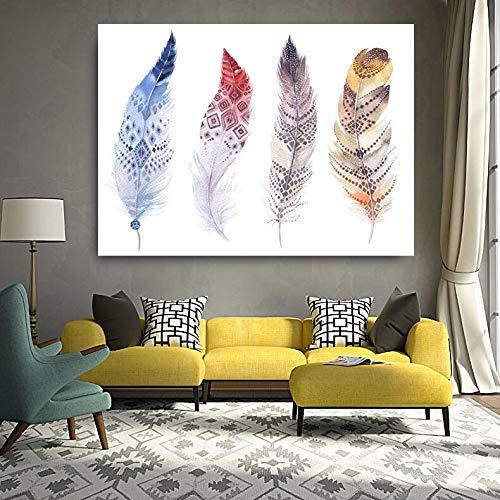 zhuziji DIY Malen nach Zahlen Handgemalte Aquarell Aquarell Feder HD Malerei Wohnzimmer Moderne Wand Home Dekoration Bild50x75cm(Kein Rahmen)