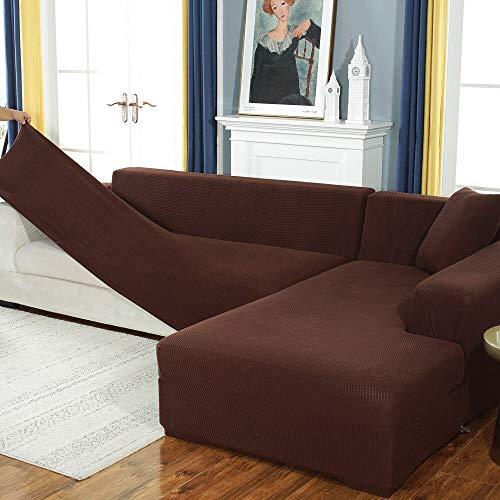 ABUKJM Sofaüberwurf, elastisch, Jacquard-Strick, Maiskörner, für Wohnzimmer, rutschfest, dehnbar, Sofaschoner, Stil 16, 3-seat 190-230