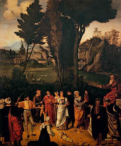 """Giorgione The Judgement of Solomon 1505 Galleria Degli Uffizi 30"""" x 25"""" Fine Art Giclee Canvas Print (Unframed) Reproduction"""