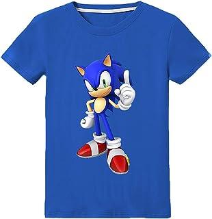 Silver Basic Camiseta de Sonic The Hedgehog para Niños y Niñas Unisex Tamaño de Niño Sonic Ropa para Niños Sonic Cosplay D...