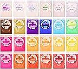 DEWEL Pearl Mica Powder, 24 * 10g colores para resina epoxi Fabricación de slimo,...