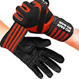 Fitness Gloves Men Women Workout Full Finger with Wrist Strap Support, Padded Grip for Weight...