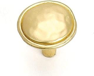 Laurey 1-3/8-Inch Merlot Knob, Brass, 37404