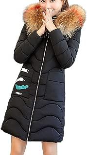 Hooded Outwear Warm Coat Long Thicker Fur Collar Cotton Parka Slim Jacket Women
